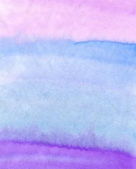 Abstrata aquarela mão pintado o fundo. textura colorida em cores rosa, azuis e roxas.