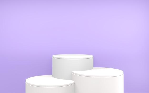 Abstrata cena mínima roxa pódio geométrico para apresentação do produto. renderização 3d