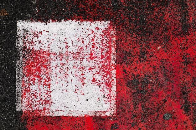 Abstrata composição colorida no asfalto