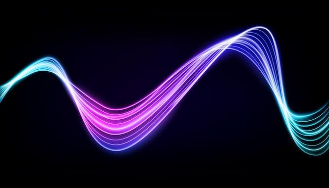 Abstrata multicolorida linha ondulada de luz