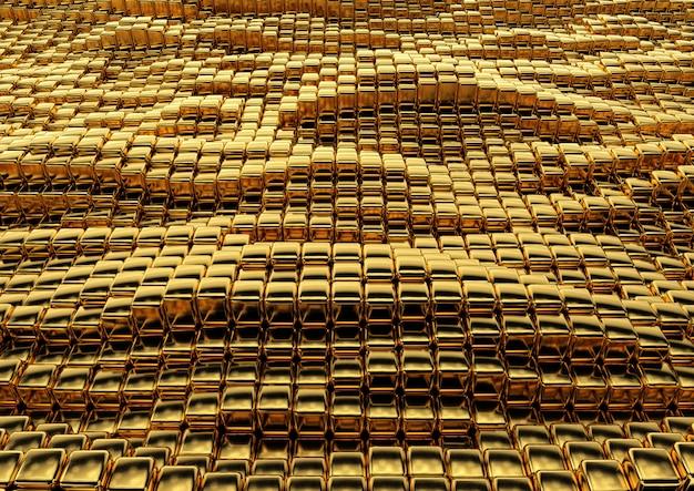 Abstrata textura quadrada dourada
