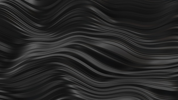 Abstratas ondas de borracha preta