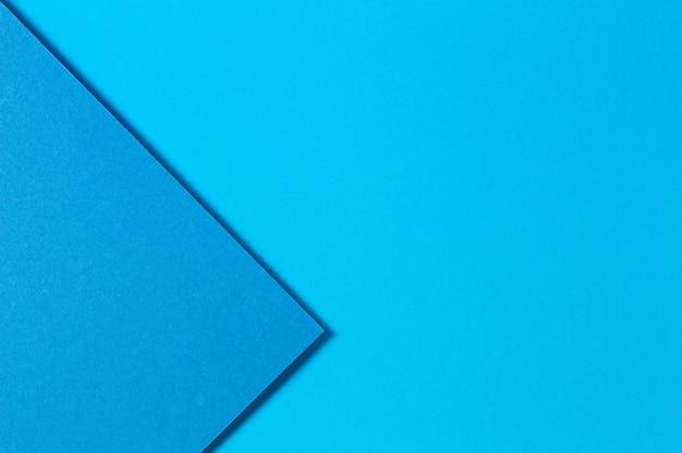 Abstrato azul cor papéis geometria plana leigos composição fundo