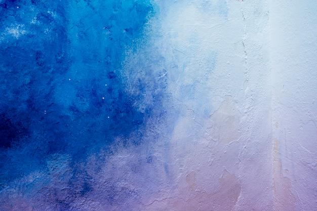 Abstrato azul e branco pintado fundo de textura de parede ao ar livre
