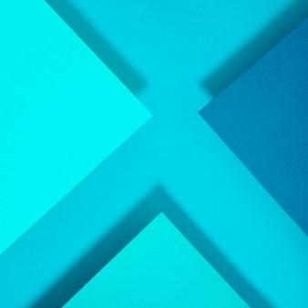 Abstrato azul x carta polígono papel design
