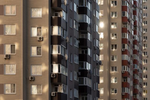 Abstrato base arquitetônico com prédios de apartamentos em uma cidade em crescimento