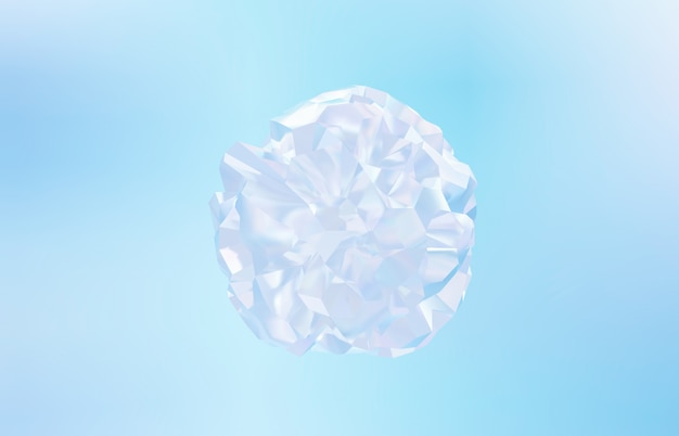 Abstrato base cristal geométrico, textura iridescente, gema lapidada, líquido. 3d rendem.