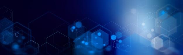 Abstrato base de conceito digital de alta tecnologia de hexágonos. espaço para texto