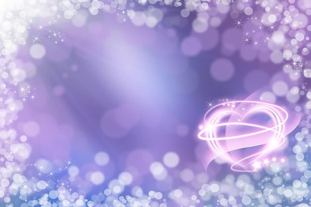Abstrato base de férias, belas luzes brilhantes, bokeh mágico brilhante. plano de fundo dia dos namorados.