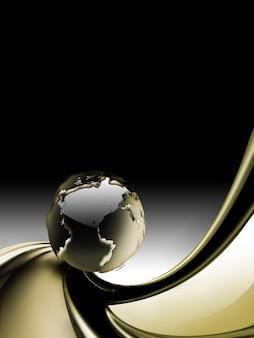 Abstrato base de negócios com o planeta