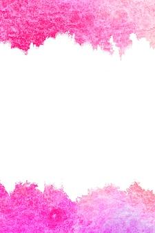 Abstrato base de pintura de cor rosa e quadro.
