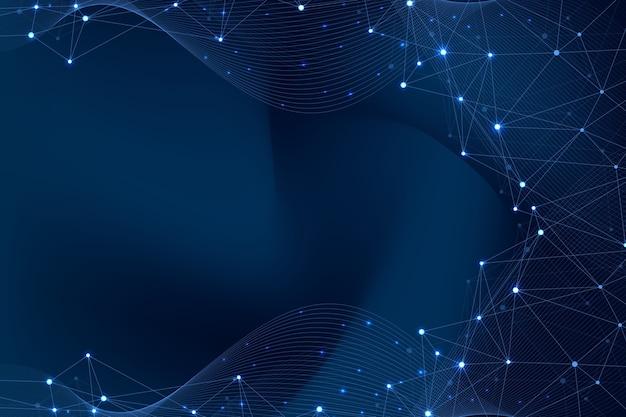 Abstrato base de plexo com linhas conectadas e pontos de fluxo de onda plexo efeito geométrico grande volume de dados ...