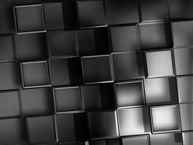 Abstrato base de tecnologia com quadrados de metal