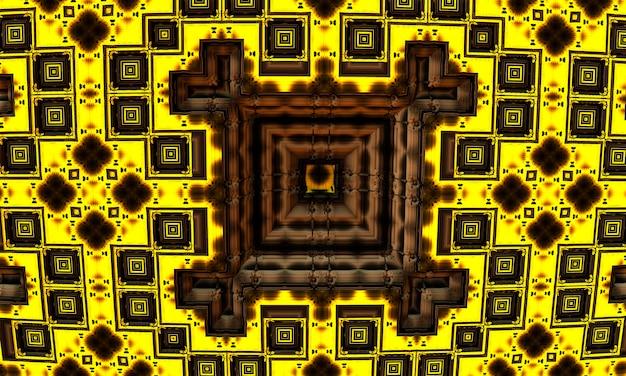 Abstrato base de tecnologia de movimento retângulos quadrados, renderização em 3d.