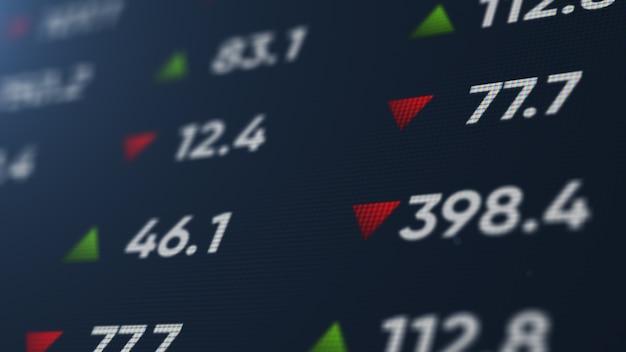 Abstrato base financeiro com cotas do mercado financeiro de ações