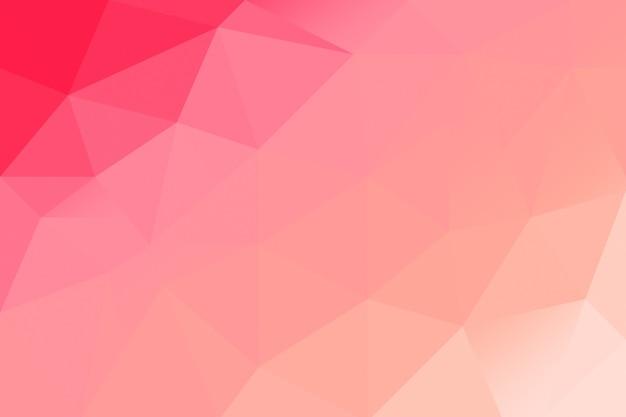 Abstrato base poli baixa rosa vermelha. cenário poligonal criativo