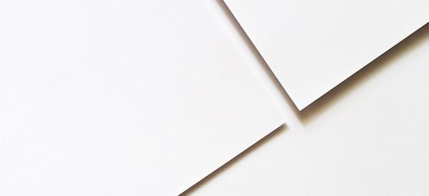 Abstrato branco monocromático de textura de papel criativo fundo de linhas e formas geométricas mínimas