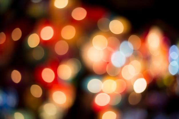 Abstrato circular bokeh fundo colorido luz desfocado bokeh luzes
