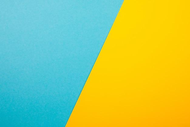 Abstrato colorido papel azul fundo amarelo