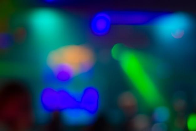 Abstrato colorido turva luz de fundo na boate