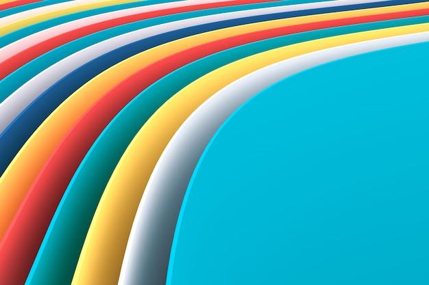 Abstrato com curvas coloridas