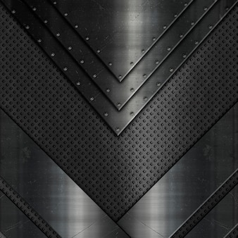Abstrato com diferentes texturas metálicas