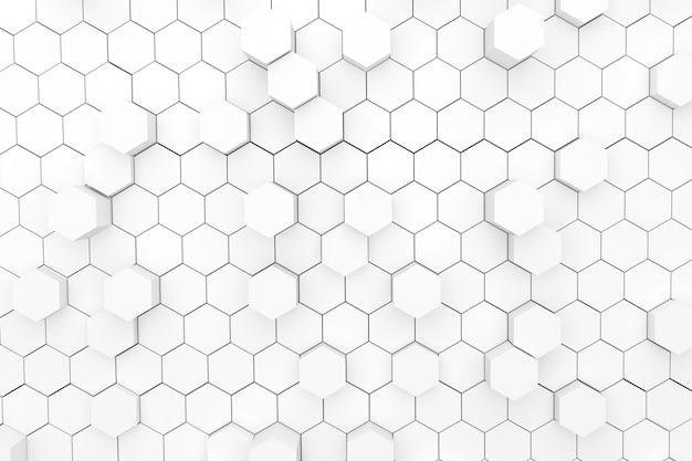 Abstrato com hexágonos geométricos