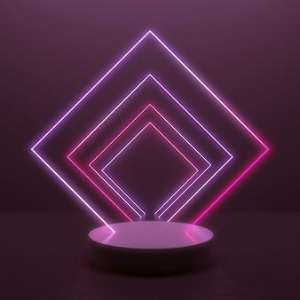 Abstrato com linha de luz brilhante no design minimalista para exposição do produto