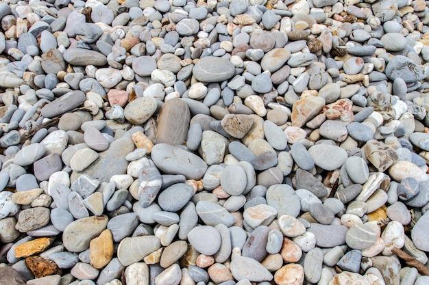 Abstrato com pedras do mar de seixos
