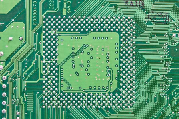 Abstrato com placa de circuito de computador antigo