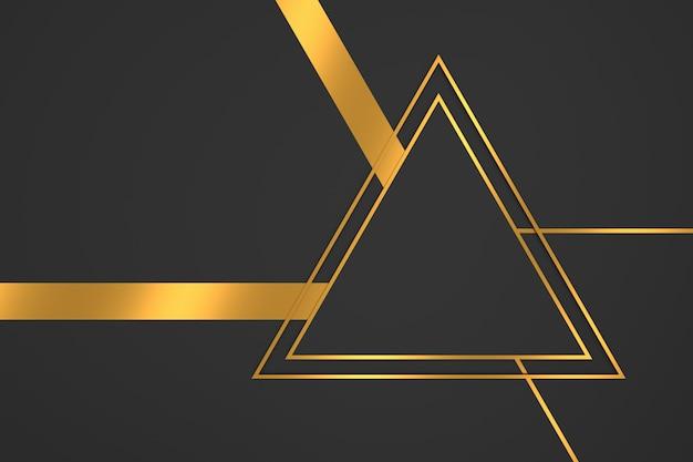 Abstrato da forma do triângulo com conceitos de luxo. renderização em 3d.