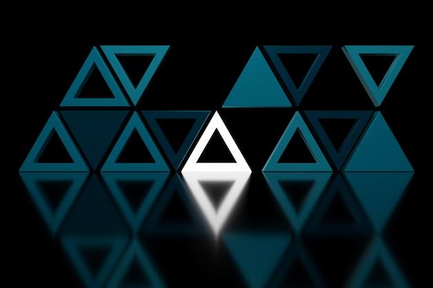 Abstrato da forma do triângulo. renderização em 3d.