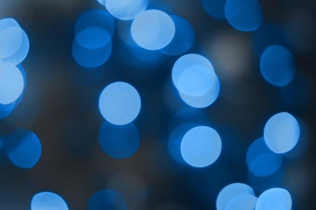 Abstrato de cor azul com luzes desfocadas bokeh