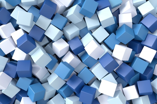 Abstrato de cubos. renderização 3d.