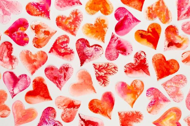 Abstrato de dia dos namorados coração vermelho.