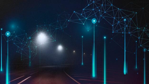 Abstrato de elemento digital na estrada