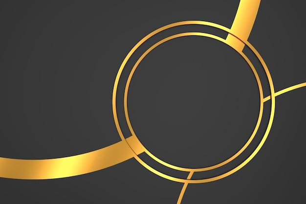 Abstrato de forma de círculo com conceitos de luxo. renderização em 3d.