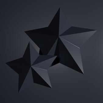 Abstrato de forma de estrela. renderização em 3d.