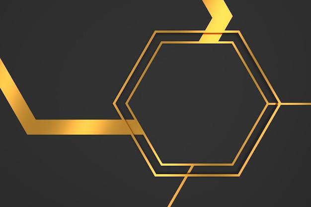 Abstrato de forma de hexágono com conceitos de luxo. renderização em 3d.