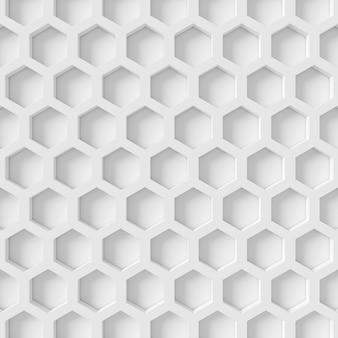 Abstrato de forma de hexágono. renderização em 3d.