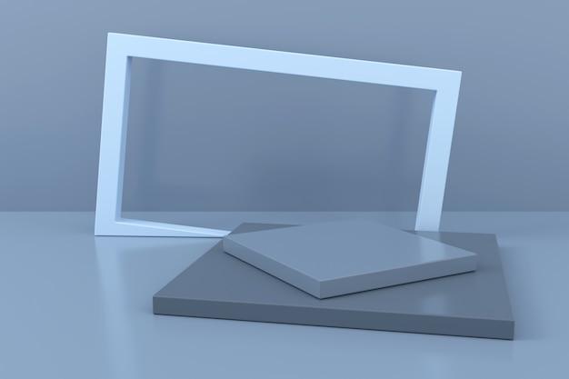 Abstrato de forma geométrica. renderização em 3d.