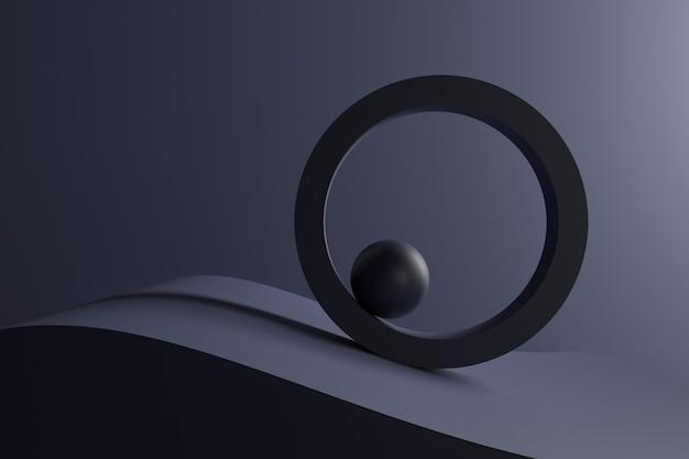 Abstrato de formas geométricas. renderização em 3d.