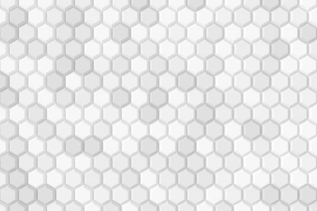 Abstrato de hexágono. renderização em 3d.