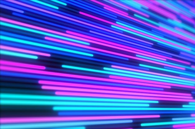 Abstrato de linhas de néon brilhante