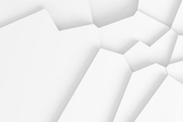 Abstrato de linhas retas, dissecando a superfície em peças separadas ilustração 3d