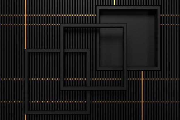 Abstrato de metálico com conceitos de luxo. renderização em 3d.