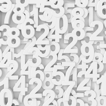Abstrato de números aleatórios. renderização em 3d.