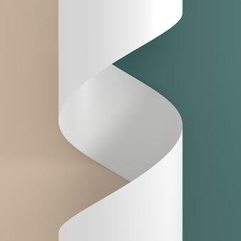 Abstrato de papel. renderização em 3d.