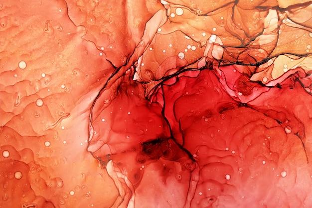 Abstrato de pintura a tinta de álcool