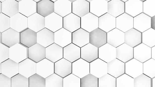 Abstrato de polígono cinza e branco
